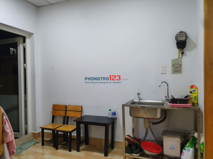 Phòng trọ nội thất đầy đủ có máy lạnh, rộng 25m2