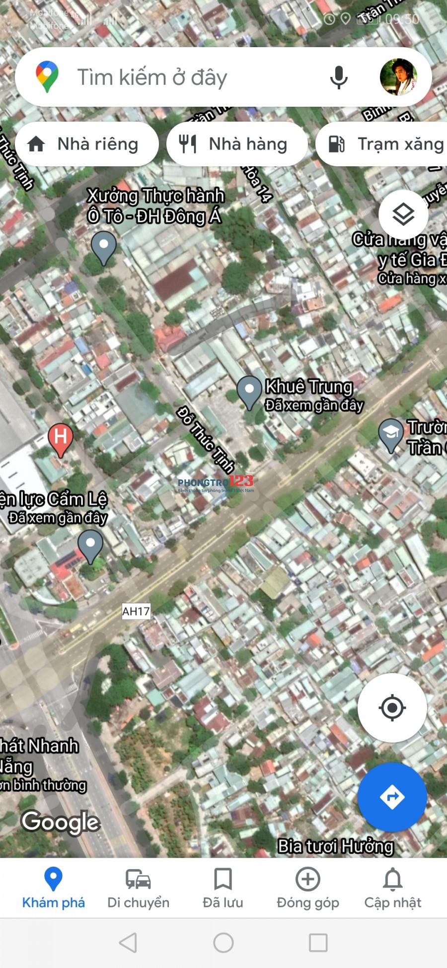 Cần cho thuê nhà 1pn, có sân vườn giá rẻ tại Đà Nẵng