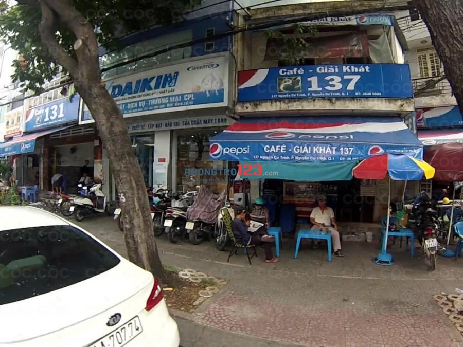 Nhà 1 trệt 1 lầu đường Nguyễn Cư Trinh, Quận 1