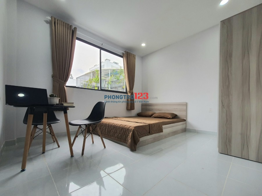 Phòng mới xây cửa sổ lớn siêu thoáng   Nội Khu yên tĩnh, trung tâm quận Bình Thạnh