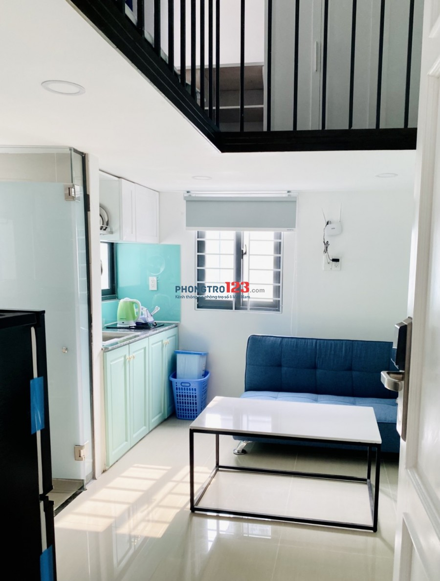 Cho thuê căn hộ đầy đủ tiện nghi Quận 7 Lâm Văn Bền tiện nghi mới xây 100% gác đứng thẳng người cửa sổ thoáng mát