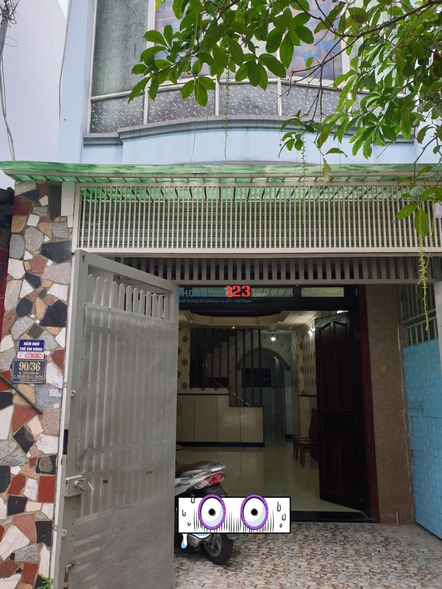 VP-Nhà nguyên căn 4x17m hẻm 12m 90/36 Trần Văn Ơn