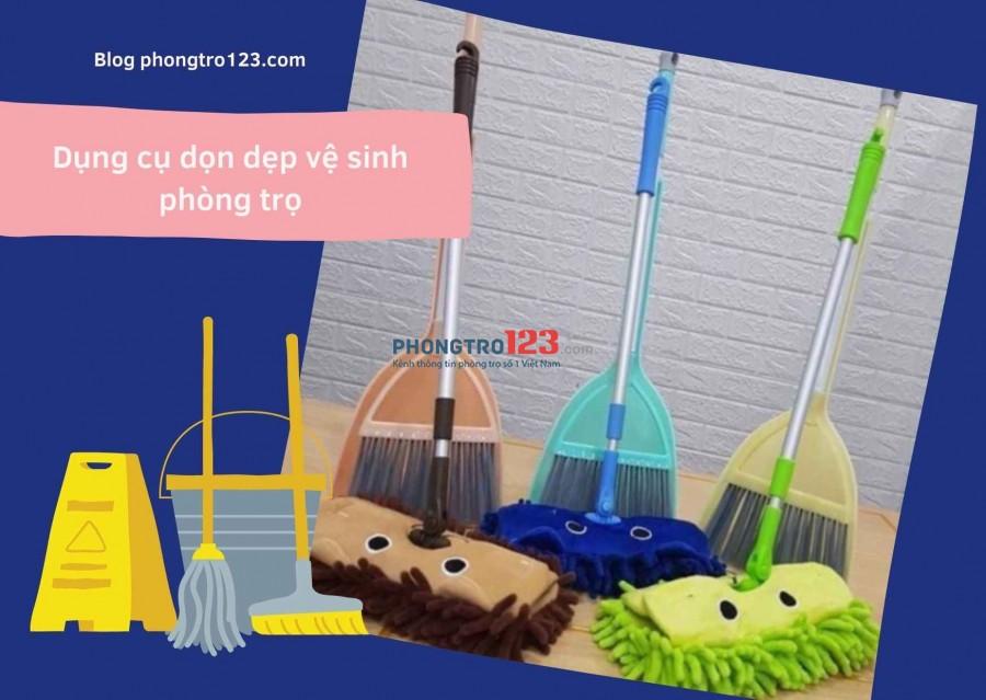 Dụng cụ vệ sinh phòng trọ blog phongtro123