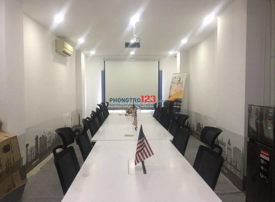 Cho thuê văn phòng tầng 2 và 3 nhà MT 60 Đinh Công Tráng Tân Định Q1 giá từ 10tr/th