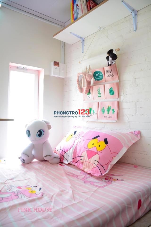 PinkHouse. An cư khi ở một mình, vui vẻ khi ở cùng nhau, đủ tiện nghi giá chỉ 1tr6/tháng. Lh chị Mỹ 0903224672