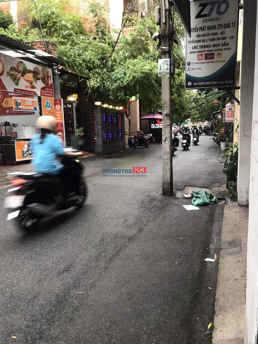 Chính chủ cho thuê MB 4x10 tại 32/34 Trương Hoàng Thanh P12 Q Tân Bình giá 12tr/th