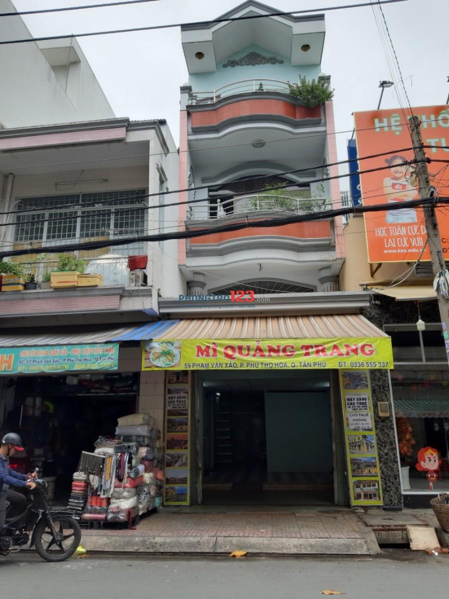 Cho thuê phòng trọ tại 59 Đường Phạm Văn Xảo, Phường Phú Thọ Hòa, Quận Tân Phú. 60m2 giá thuê 8 triệu/tháng