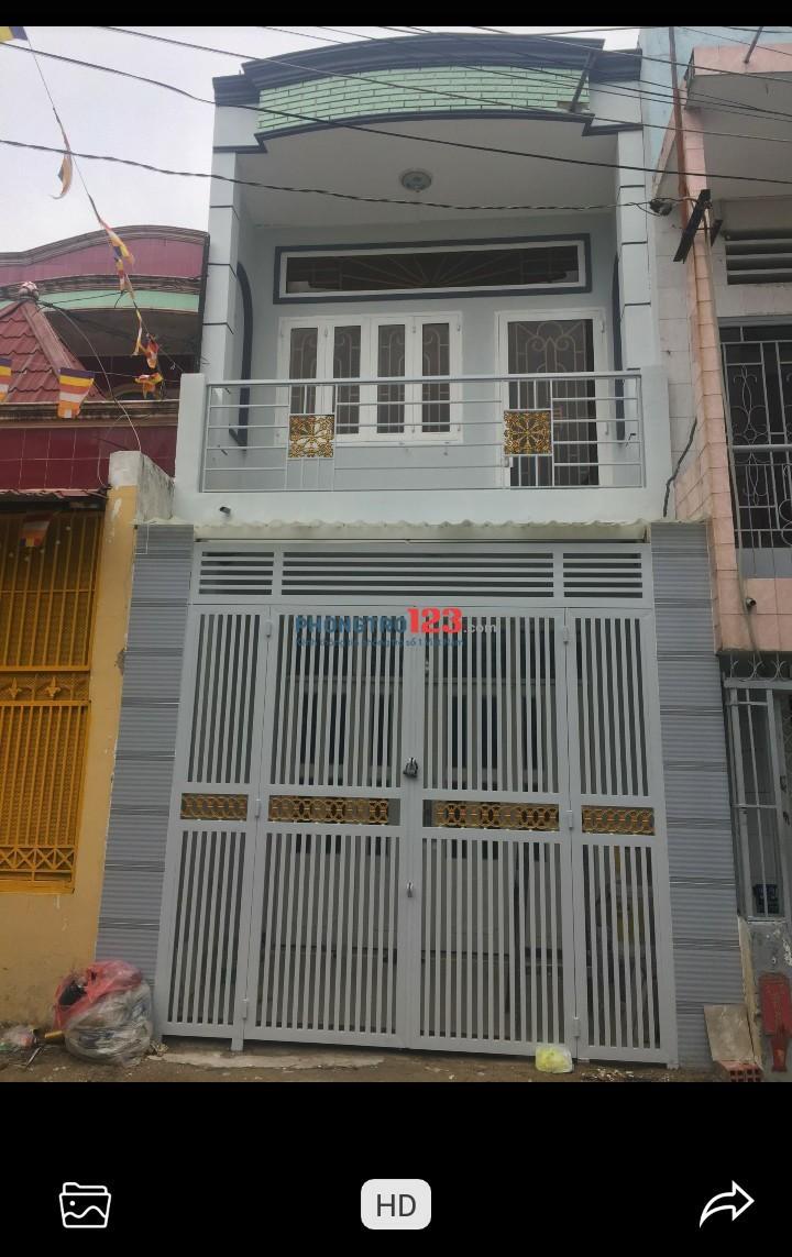 Cho thuê nguyên căn 1 trệt 1 lầu 52m² Q. Bình Tân gần BX. Miền Tây