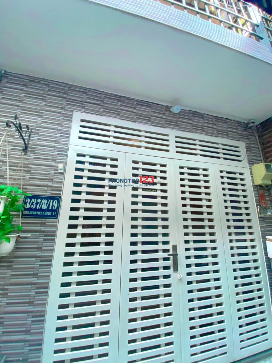 Cho thuê nhà nguyên căn nhà Quận 7 Tân Quy, sạch sẽ. Giá 4Triệu 300K /tháng. Lh ️:0908.2323.21 ( xem nhà trực tiếp)