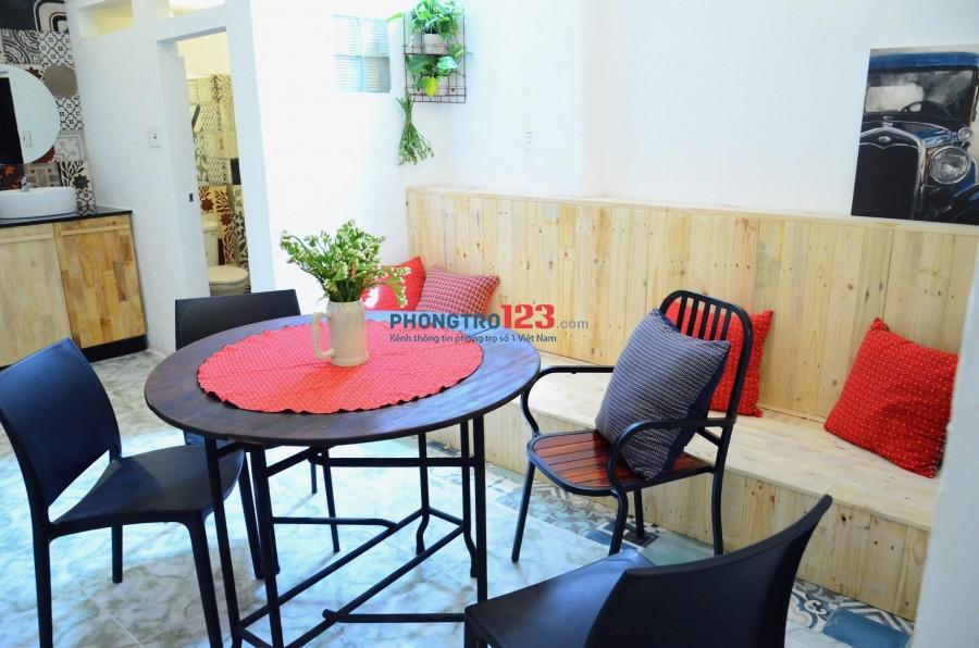Chính chủ cho thuê nhà tầng trệt 4x11 đầy đủ nội thất tại Nguyễn Cư Trinh Q1 giá 9tr/th