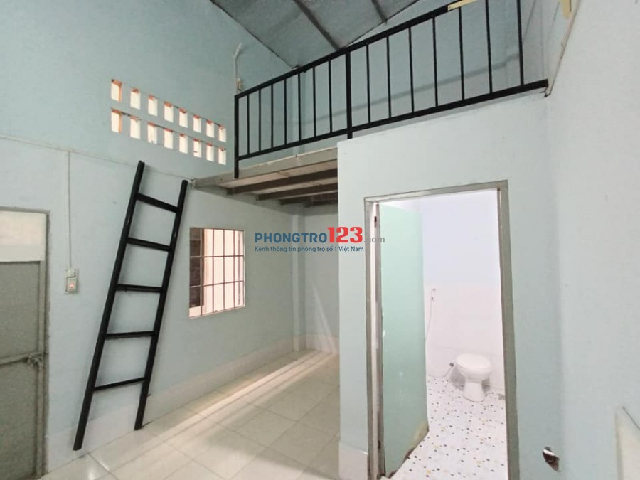 Phòng mới xây 24m2 sạch sẽ, gác cao, nhà tắm rộng