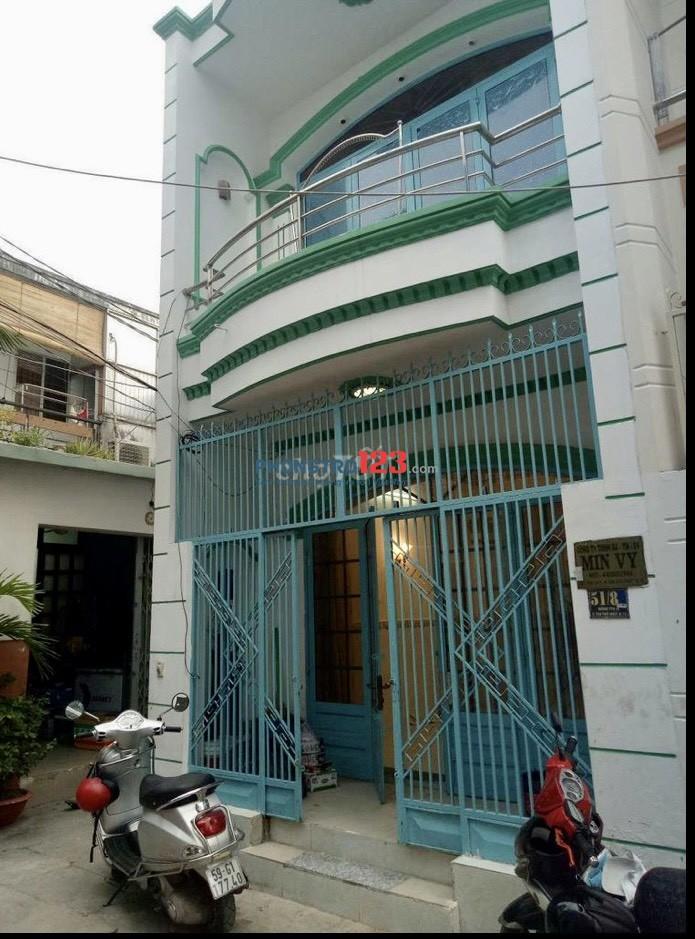 Cho thuê nhà NC 4x12 1 trệt 1 lầu tại 51/8 Phan Văn Hớn P TTN Q12 giá 7tr/th