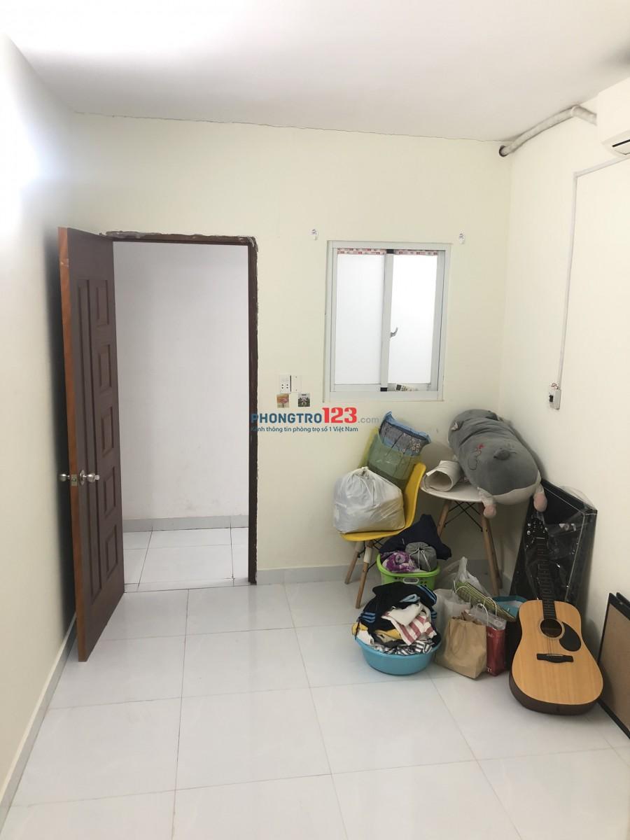 Phòng 2.8 triệu/tháng diện tích ngang 4m dài 6m có máy lạnh ngay chợ Tân Quy