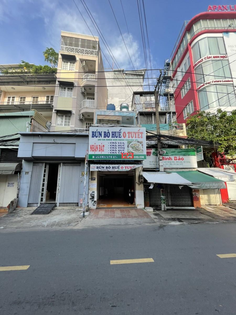 Chính chủ cho thuê nhà NC 4x12 mặt tiền 19A Đồng Nai P15 Q10