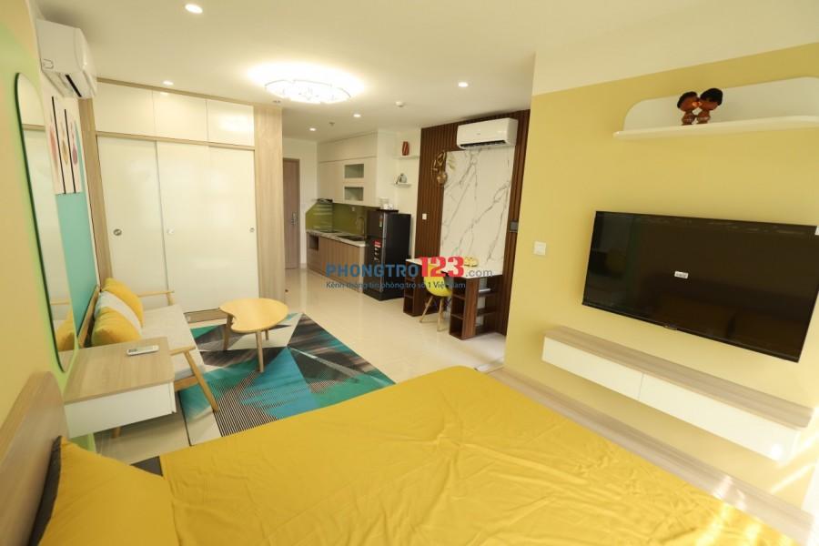 Cho thuê chung cư căn hộ studio diện tích 34m2, giá thuê 4tr5/tháng