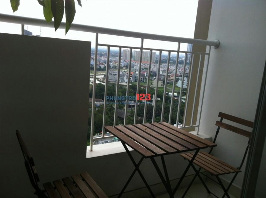 Cho thuê căn hộ Bình Khánh Q2 đủ nội thất 51m2 1 phòng ngủ giá 8tr/th
