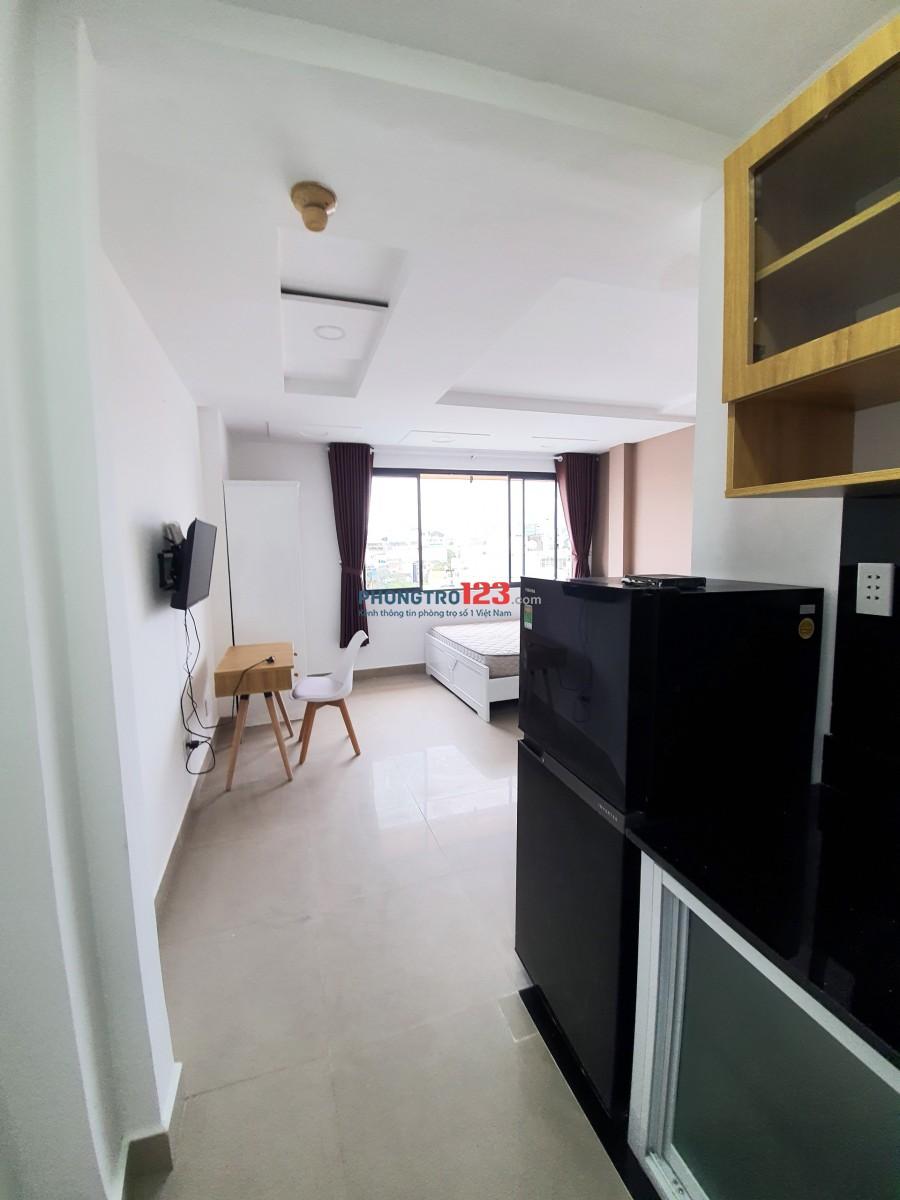 Cho thuê căn hộ studio đầy đủ tiện nghi, Q3 Trần Quang Diệu