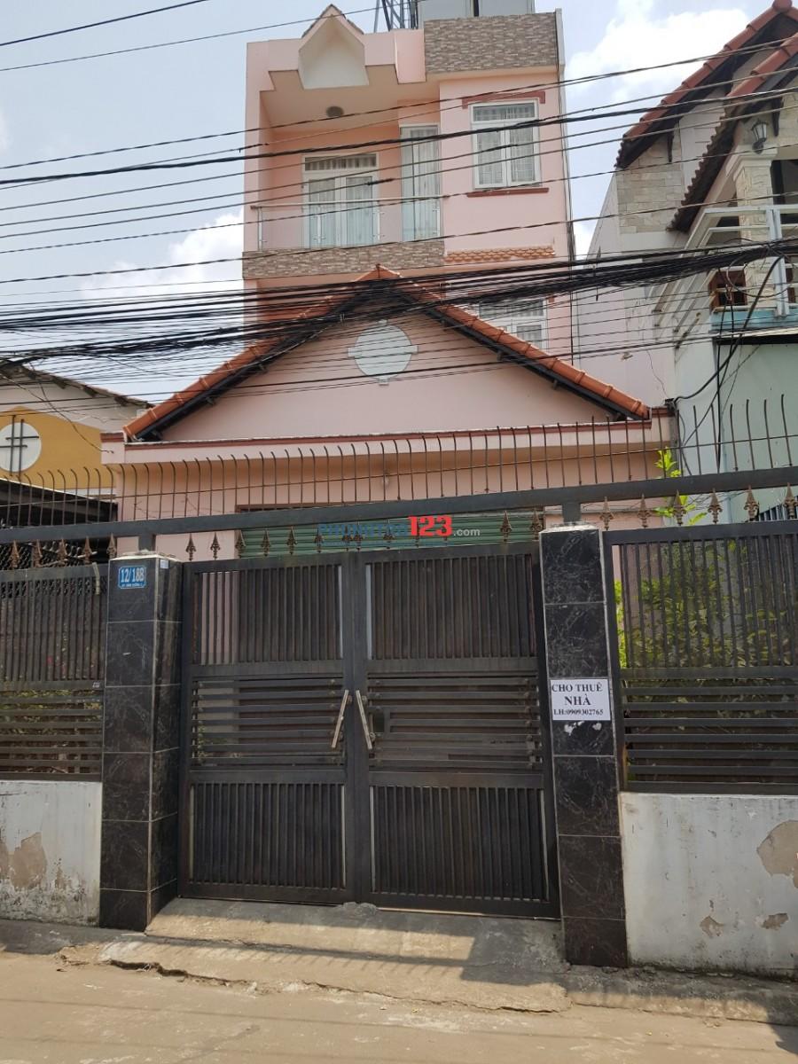 Cho thuê ngà nguyên căn tại 12/18B Đường số 9, Phường Linh Tây, Quận Thủ Đức. 1 trệt, 2 lầu, 100m2