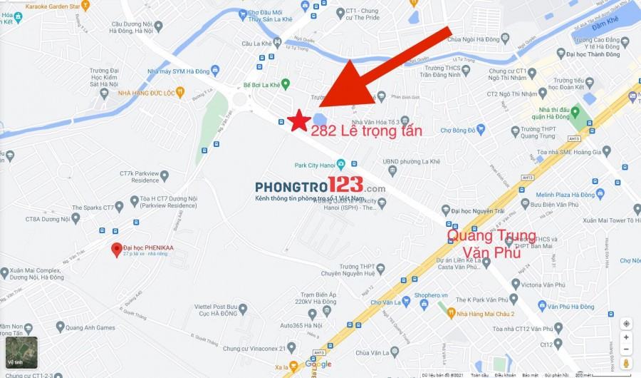 Chính chủ cho thuê phòng full đồ 282 Lê trọng tấn, hà đông gần DH Pheenika