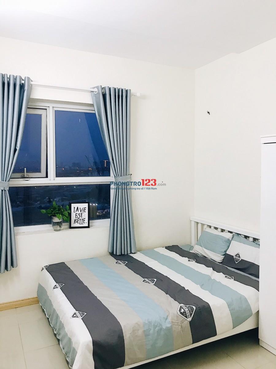 Share gấp 1 phòng trong chung cư 2pn, 2wc, full nội thất 4Tr5/phòng bao hết