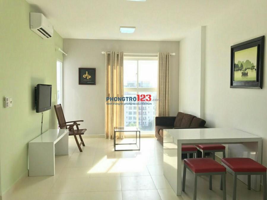 Cho thuê căn hộ 2 phòng ngủ, 2wc. Nội thất đầy đủ giá 8tr/1 tháng tại chung cư Thủ Thiêm Sky