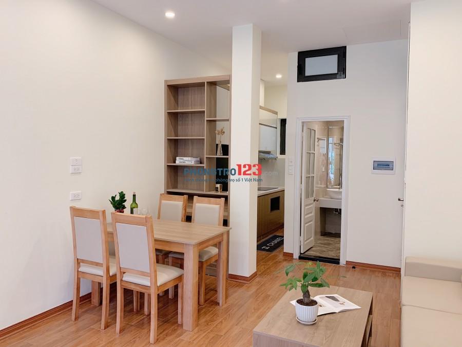 Cho thuê căn hộ CCMN 1 khách-1 ngủ 55m2 tại Ba Đình, gần Hoàn Kiếm, gần Tây Hồ. Nội thất FULL Cao Cấp