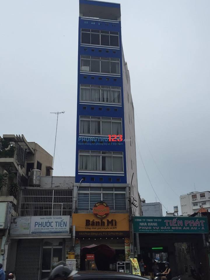 Phòng đẹp cho thuê mặt tiền 68A Phan Đăng Lưu, P.5, Q. Phú Nhuận, Giá chỉ: 2.8 triệu (Có thang máy - Máy Giặt miễn phí)