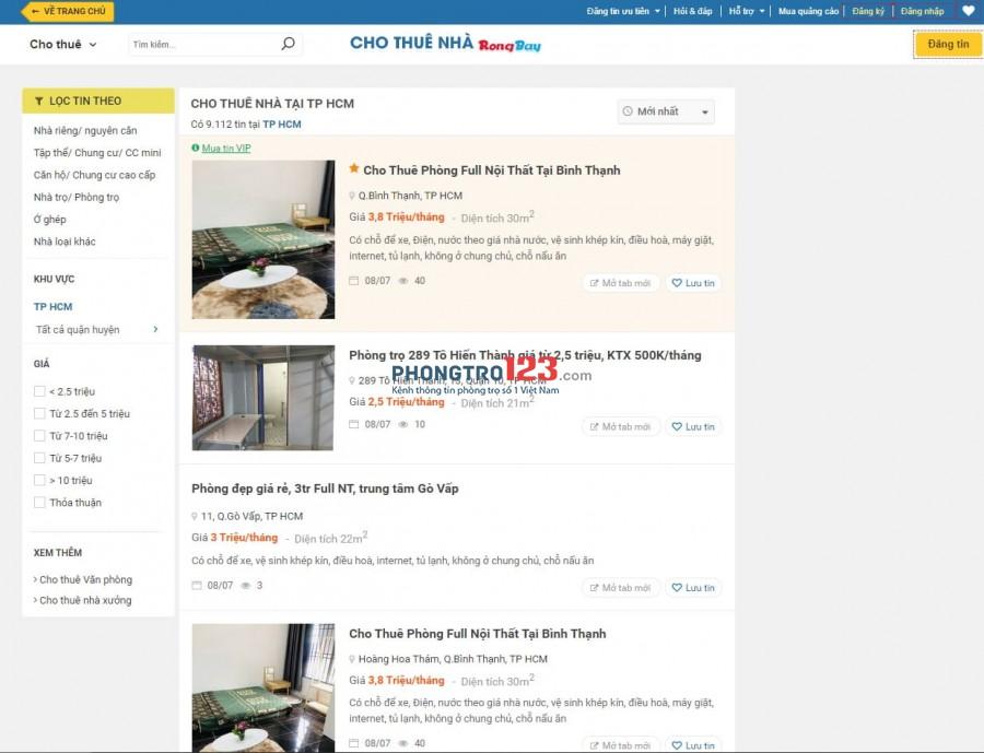Hình ảnh trang web Rongbay.com