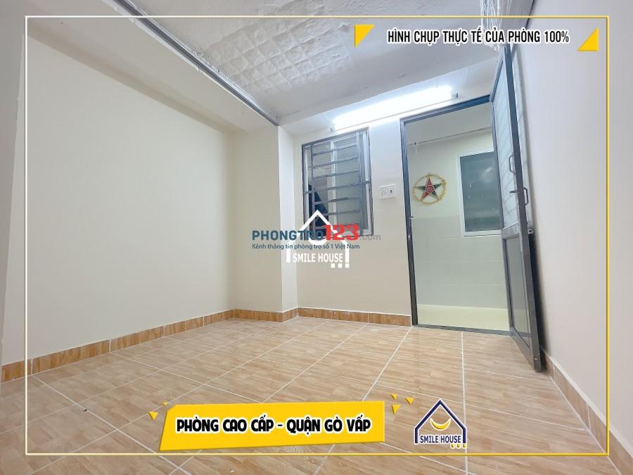 Cho thuê phòng mới xây sát cổng phụ Đại Học Văn Lang cs3 p5 Gò Vấp