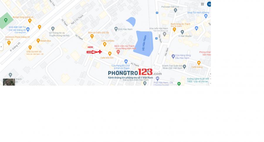 Nhà phố Vũ Thạnh, Đống Đa, Hà Nội có thể ở từ 1 đến 2 người, 15m2 giá 2 triệu